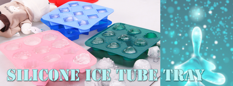 Silicone ice tube tray