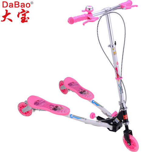 3 wheel frog swing scooter-DB8088M-JZ-GD-W3