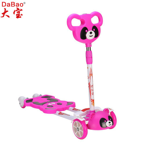 4 wheels frog kick scooter for kids-DB8151