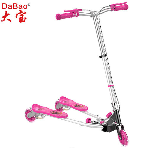 3 wheel frog swing scooter-DB8088M-GD-W3-F