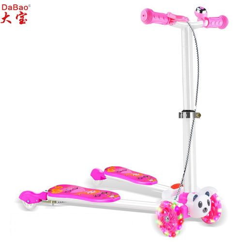 4 wheels frog kick kids scooter-DB8150C-R-F