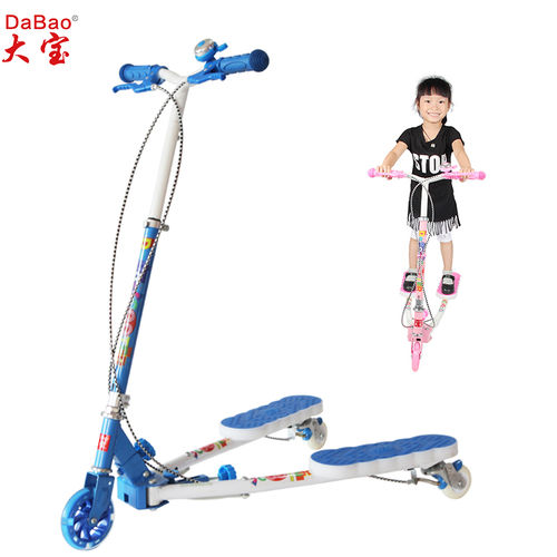 3 wheel frog kick kids scooter-DB8175MMC-YYSG-GD-F