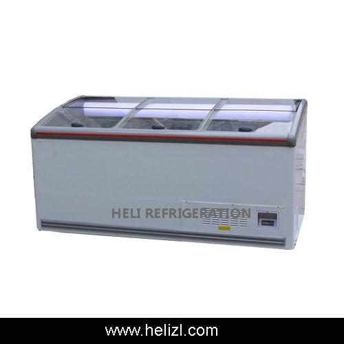 Direct cooling island freezer-
