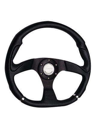 Leather steering wheel-JLL-051