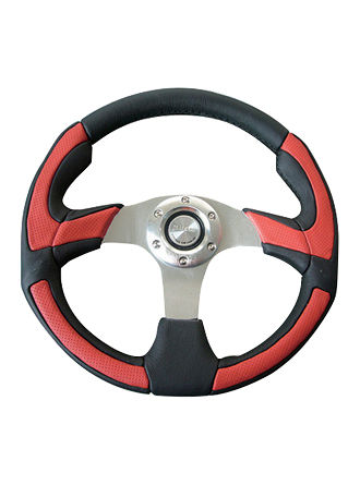 Leather steering wheel-JLL-089