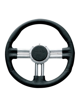 Leather steering wheel-JLL-072