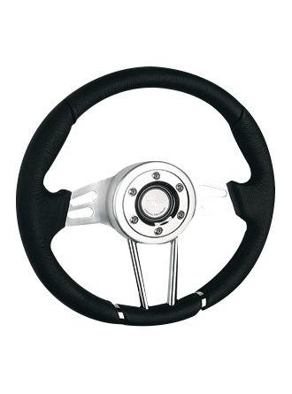 Leather steering wheel-JLL-058