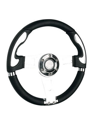 Leather steering wheel-JLL-057