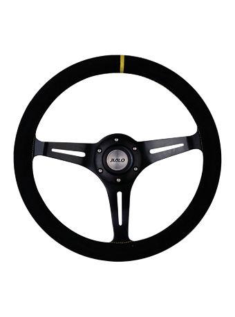 Leather steering wheel-JLL-096