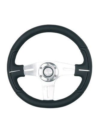 Leather steering wheel-JLL-094
