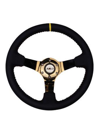 Leather steering wheel-JLL-097