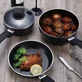 Black Marble Forged Aluminum Cookware Set -JX-FST-04