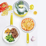 Lemon Ceramic Pressed Aluminum Cookware Set -JX-PST-06