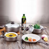 Pressed Aluminum Cookware Set with Rolled Edge -JX-PST-07
