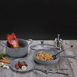 Mable Coating Forged Aluminum Cookware Set -JX-FST-06