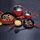 Classical Chinese Red Pressed Cookware Set -JX-PST-11