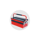 Three-tier five-cell folding hand-held toolbox -JS-09C