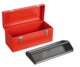Single-layer tray with portable toolbox-JS-13B