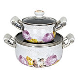 Enamel Non-stick Saucepot With Lid -JN-719