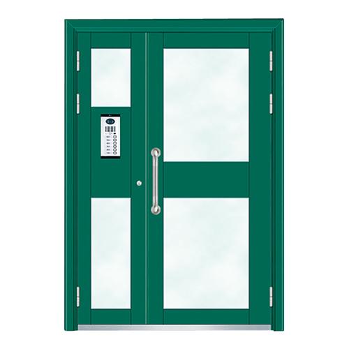 Building door-6002A(Fluorocarbon paint the door green star)