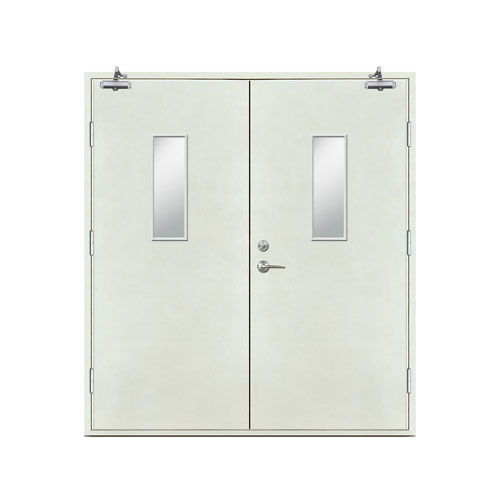 Fire doors-Plate Fire door (rectangular glass window)