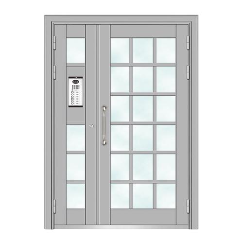 Building door-6004A(Deep silver fluorocarbon paint the door)