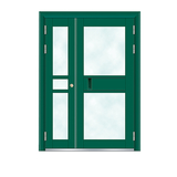 Building door -6012A(Fluorocarbon paint the door green star)