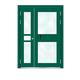 Building door-6012A(Fluorocarbon paint the door green star)