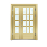 Building door -6008A(Golden fluorocarbon paint the door)