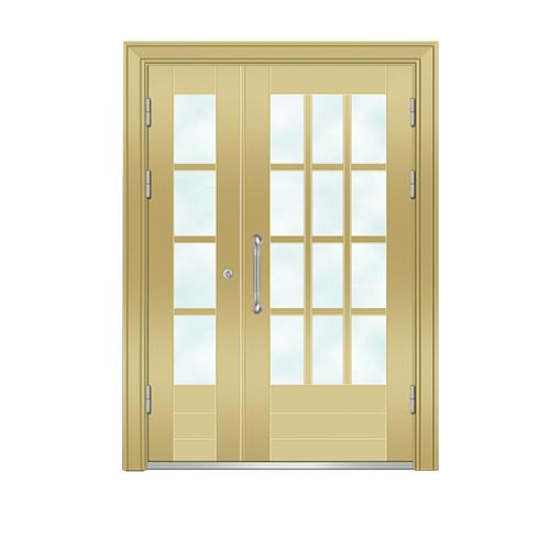 Building door-6008A(Golden fluorocarbon paint the door)