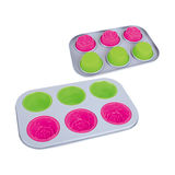 6 Cup Multi Cake Pan -BK-MS009