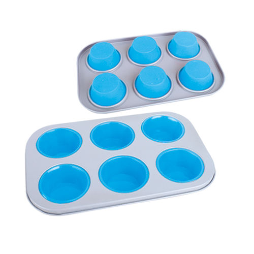 6 Cup Muffin Pan-BK-MS008