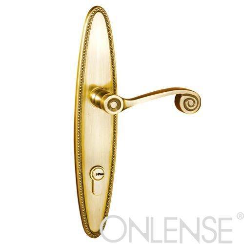 Polished brass door lock-BM7945SB