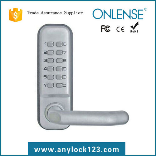 Mechanical combination glass door lock-2190