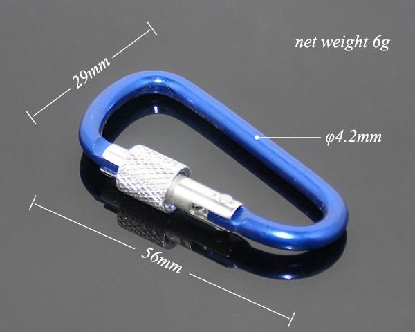 Hiking Metal Aluminum Lock Carabiner For Keys-