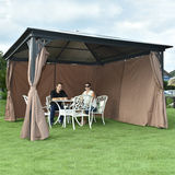 LUXURY ALU GAZEBO WITH SUNSHADE