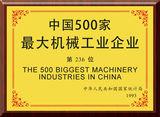 1993年中国500家最大机械工业企业第236位