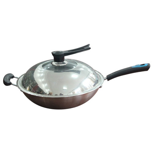Stainless steel wok-1