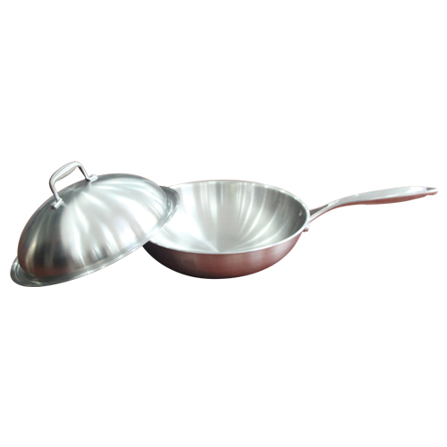 Stainless steel wok-1