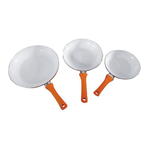 Aluminum Cookware(Ceramic Fry Pan set)-ACCS-3FSOrange