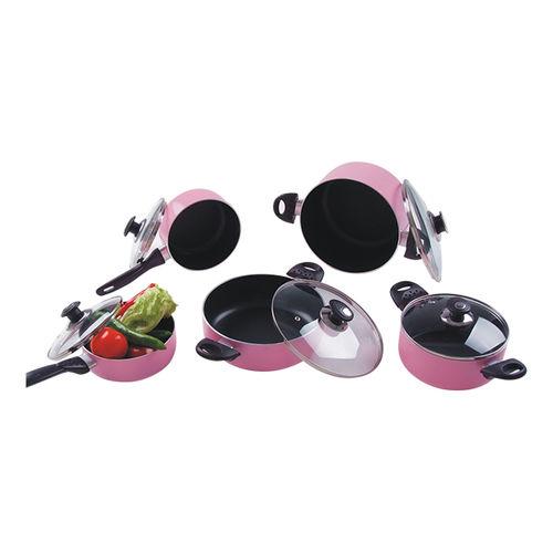 Aluminum Cookware(Pink series)-ANCS-6PS-C