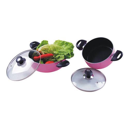 Aluminum Cookware(Pink series)-ANCS-4PS-C