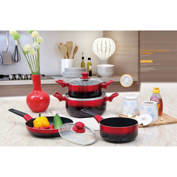 PRESSED ALUMINIUM DOUBLE COLOR COOKWARE-WNAL-P1701