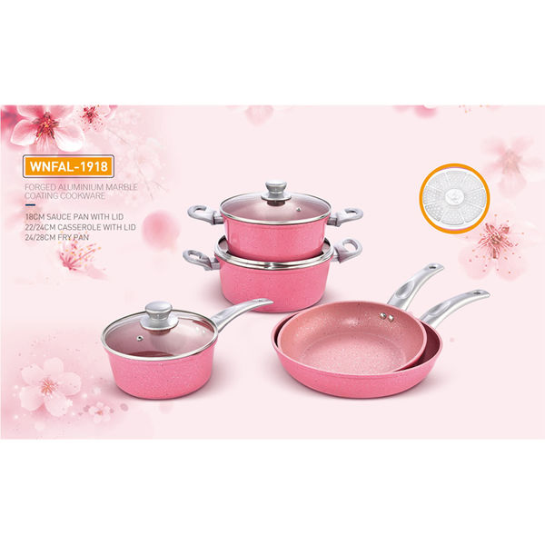 FORGED ALUMINIUM MARBLE COATING  COOKWARE-WNFAL-1918