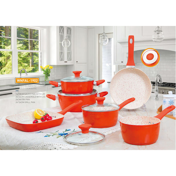 FORGED ALUMINIUM CERAMIC MARBLE COOKWARE-WNFAL-1902