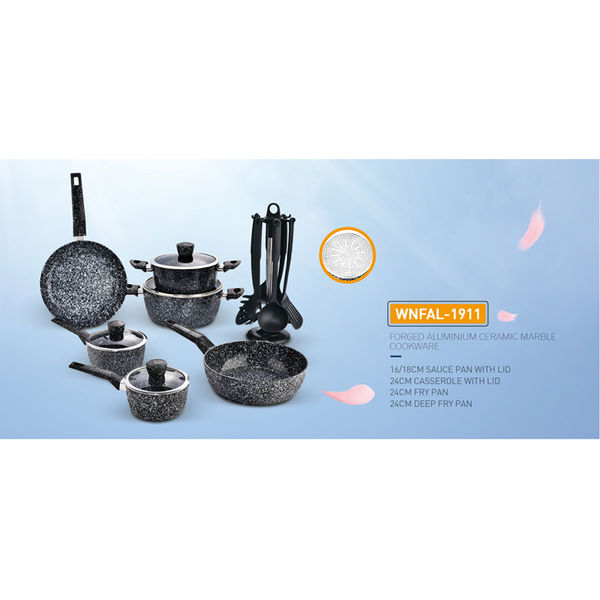FORGED ALUMINIUM CERAMIC MARBLE COOKWARE-WNFAL-1911