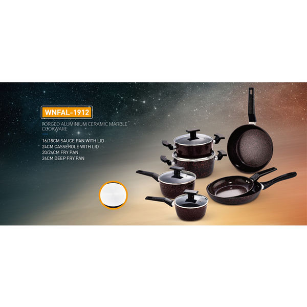 FORGED ALUMINIUM CERAMIC MARBLE COOKWARE-WNFAL-1912