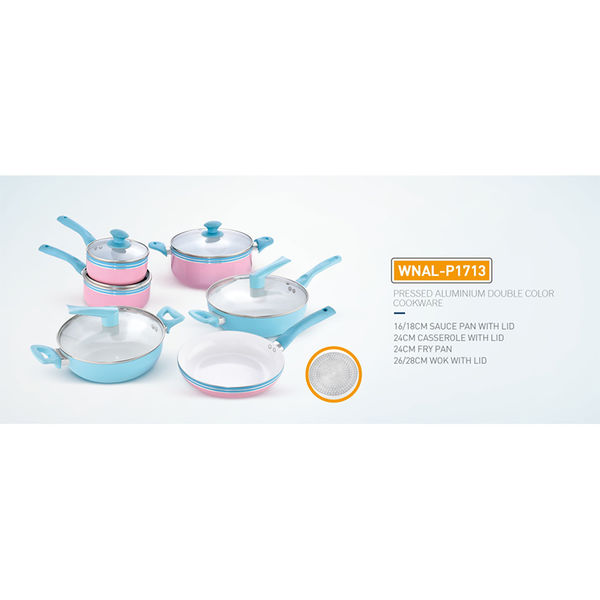 PRESSED ALUMINIUM DOUBLE COLOR COOKWARE-WNAL-P1713