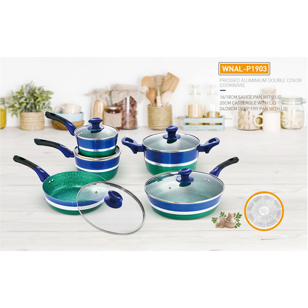 PRESSED ALUMINIUM DOUBLE COLOR COOKWARE-WNAL-P1903