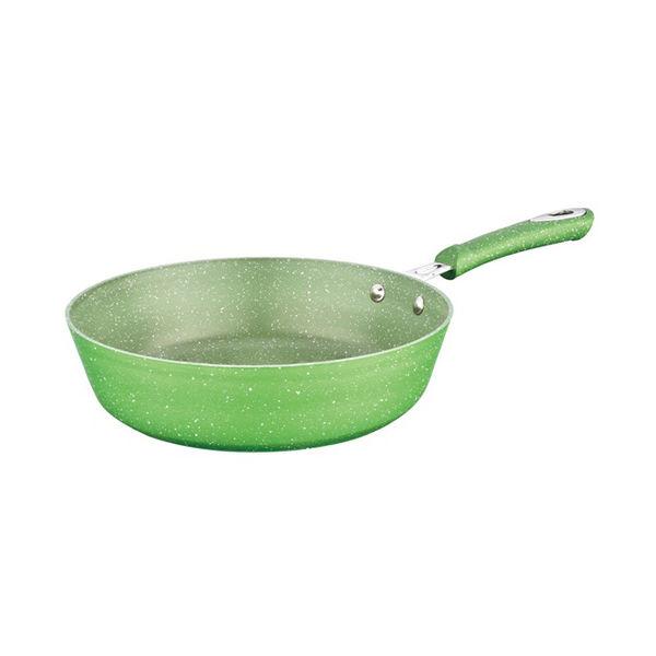 PRESSED ALUMINIUM MARBLE COATING DEEP FRY PAN-WNAL-P1802